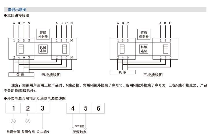 信基伟业swq1-63s双电源自动转开关  ●转换开关需手动操作时,应先将